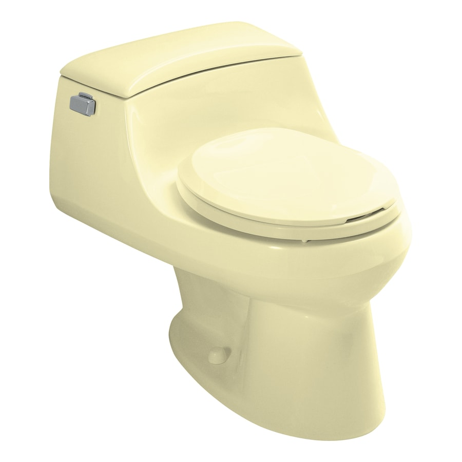 KOHLER San Raphael Sunlight 1.6-GPF/6.06-LPF 12-in Rough-in Round 1-Piece Standard Height Toilet