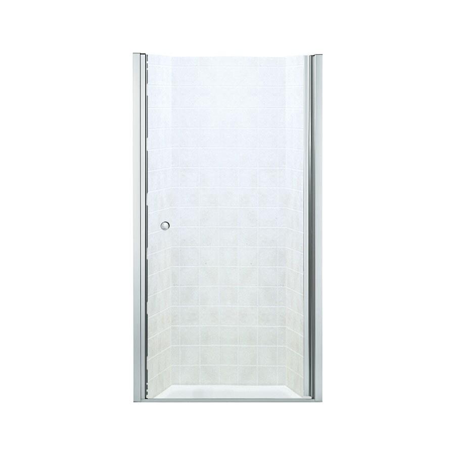 Sterling 28-3/4-in to 30-1/4-in Frameless Hinged Shower Door