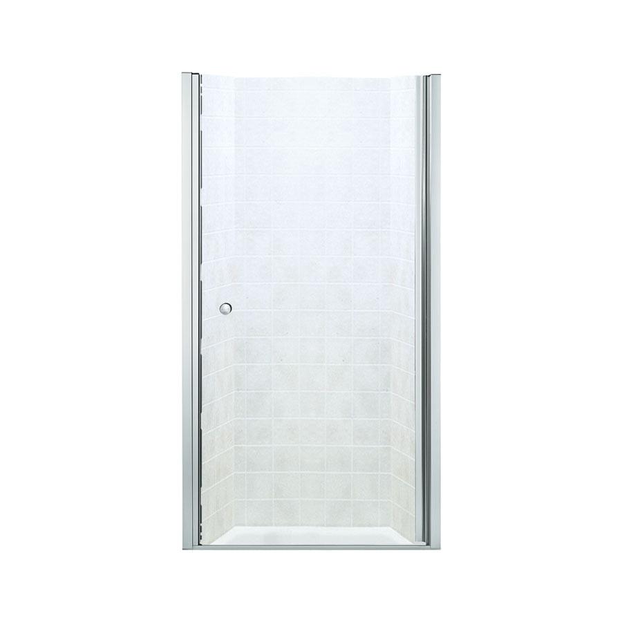 Sterling 30-in to 31-1/2-in Frameless Hinged Shower Door