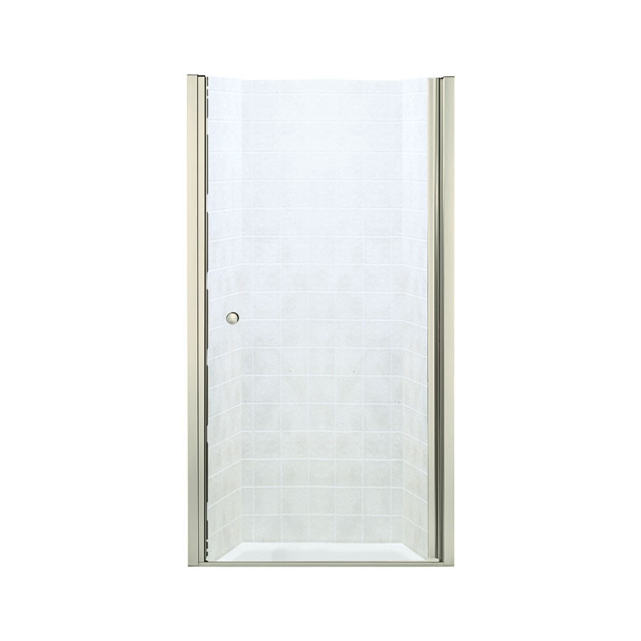 Sterling Finesse 30-in to 31.5-in Frameless Hinged Shower Door