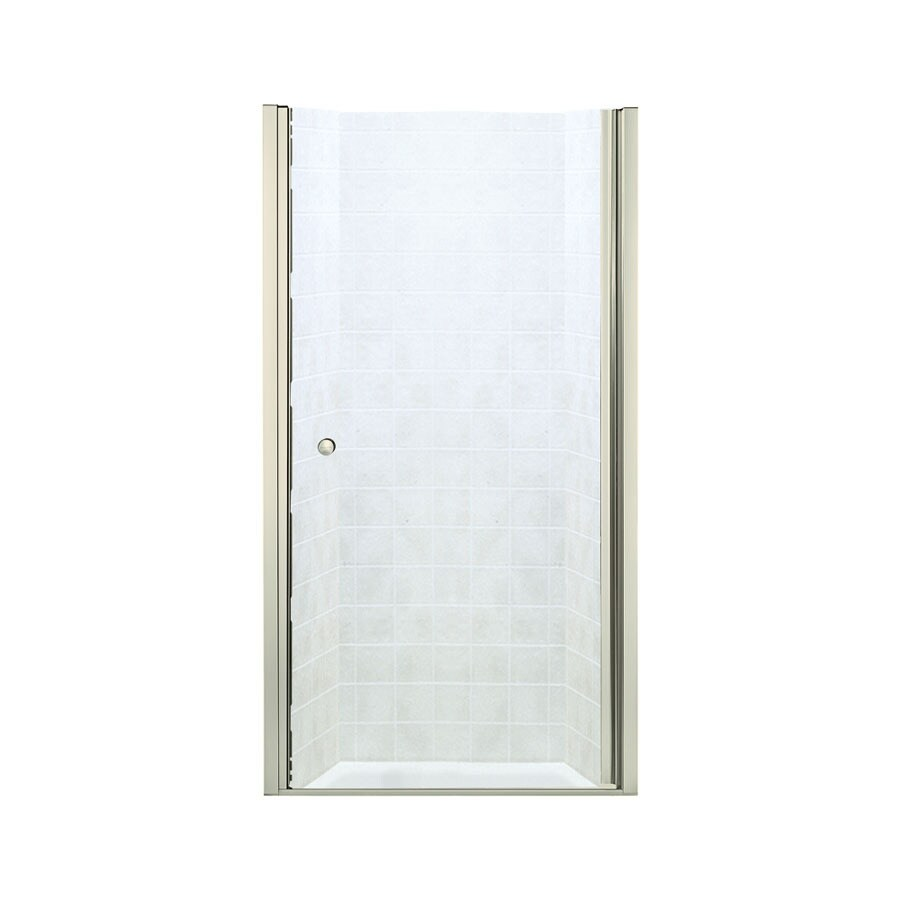 Sterling Finesse 32.5-in to 34-in Frameless Hinged Shower Door