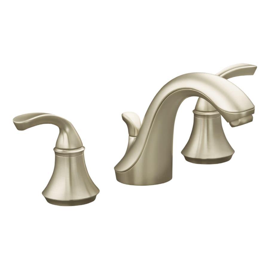 2 Handle Widespread Bathroom Faucet : ... Nickel 2-Handle Widespread WaterSense Bathroom Faucet (Drain Included