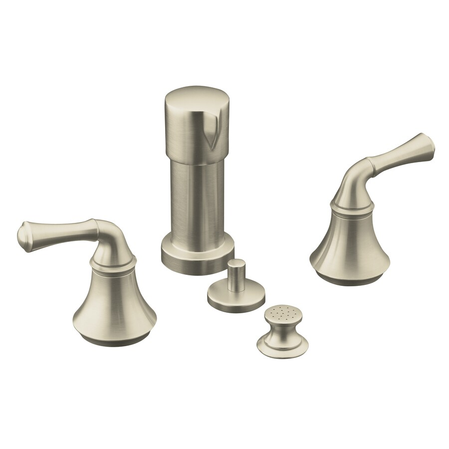 KOHLER Forte Vibrant Brushed Nickel Vertical Spray Bidet Faucet