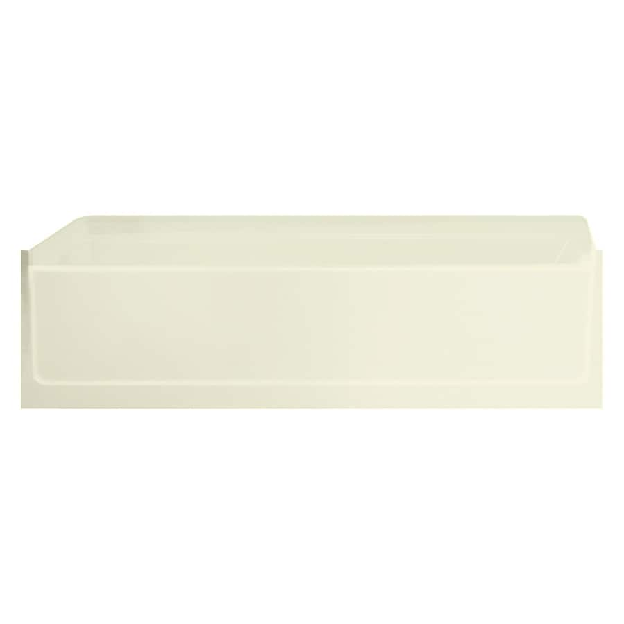 Sterling Advantage Biscuit Vikrell Rectangular Skirted Bathtub with Left-Hand Drain (Common: 30-in x 60-in; Actual: 17.25-in x 30.5-in x 60.25-in)