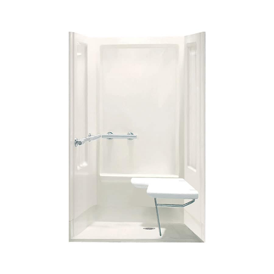Sterling Transfer Biscuit Vikrell Wall and Floor 4-Piece Alcove Shower Kit (Common: 40-in x 40-in; Actual: 72-in x 39.375-in x 39.375-in)