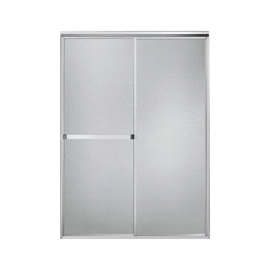 Sterling Standard 42-in to 48-in W x 65-in H Silver Sliding Shower Door
