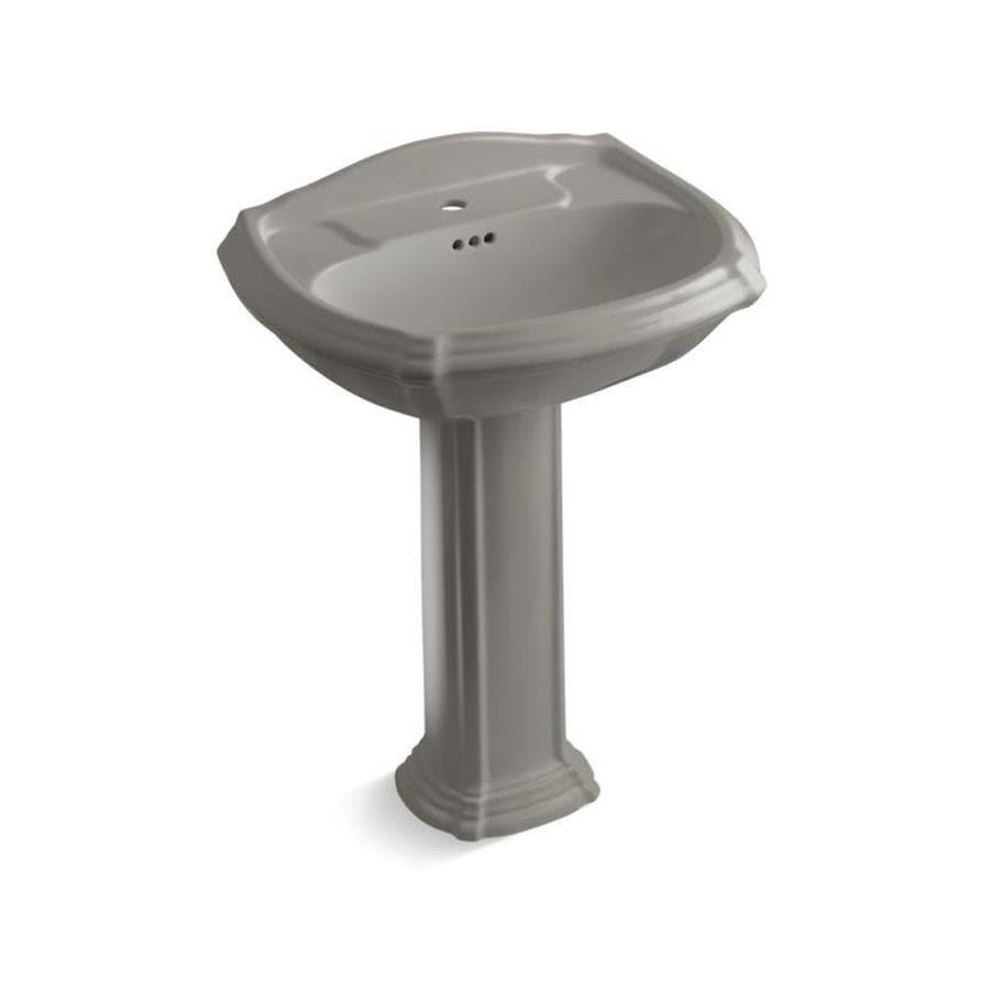 KOHLER Portrait 36.5-in H Cashmere Vitreous China Pedestal Sink