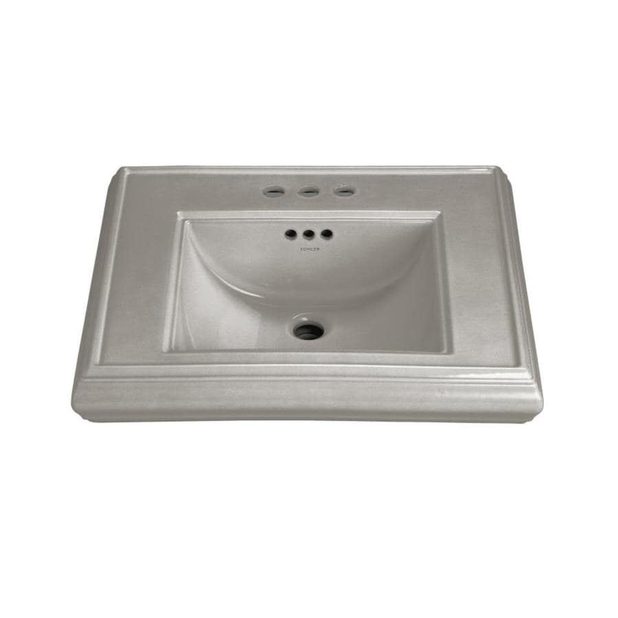 KOHLER 24-in L x 19.75-in W Cashmere Fire Clay Pedestal Sink Top