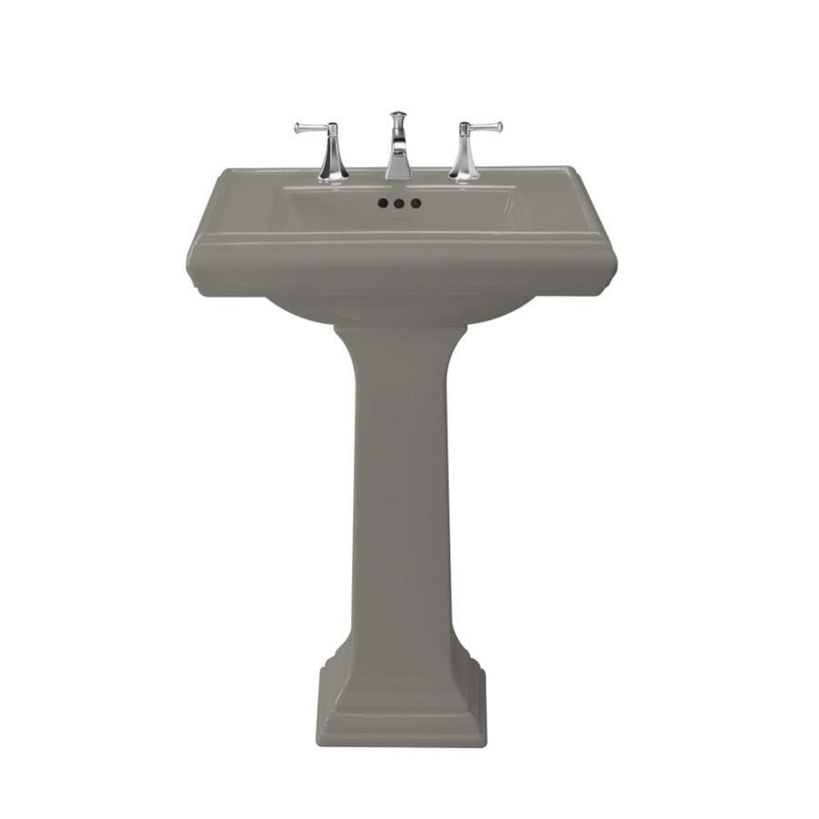 KOHLER Memoirs 35-in H Cashmere Fire Clay Pedestal Sink