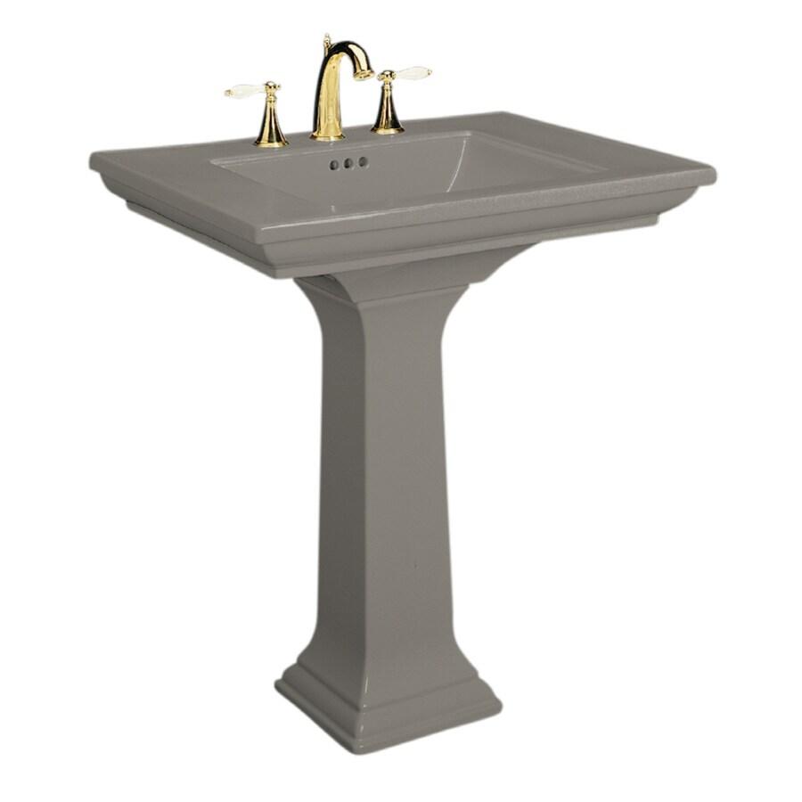 KOHLER Memoirs 34.75-in H Cashmere Fire Clay Pedestal Sink