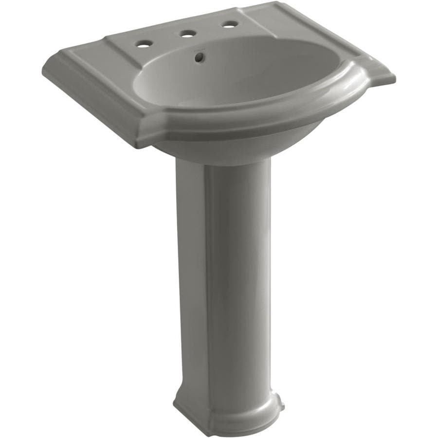 KOHLER Devonshire 33.5-in H Cashmere Vitreous China Pedestal Sink