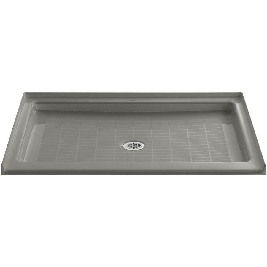 KOHLER Purist Cashmere Cast Iron Shower Base (Common: 36-in W x 48-in L; Actual: 36-in W x 48-in L)