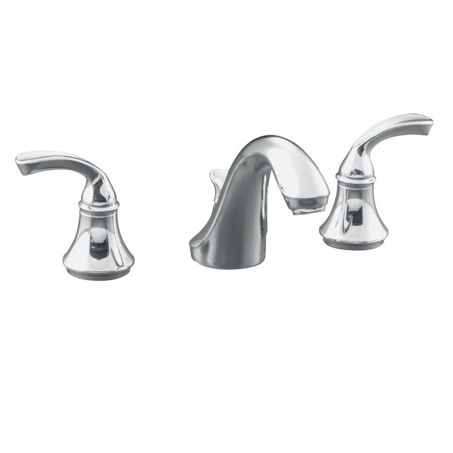KOHLER Forte Polished Chrome 2-Handle Commercial Bathroom Faucet (Drain Included)