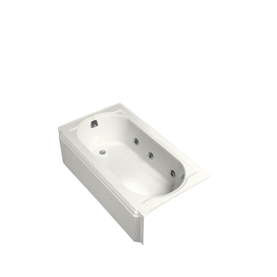 KOHLER Memoirs White Cast Iron Oval In Rectangle Whirlpool Tub (Common: 34-in x 60-in; Actual: 17.4375-in x 33.75-in x 60-in)