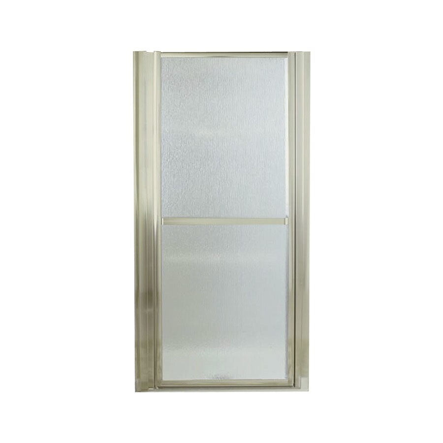 Sterling Finesse 33-in to 36-in Brushed Nickel Hinged Shower Door
