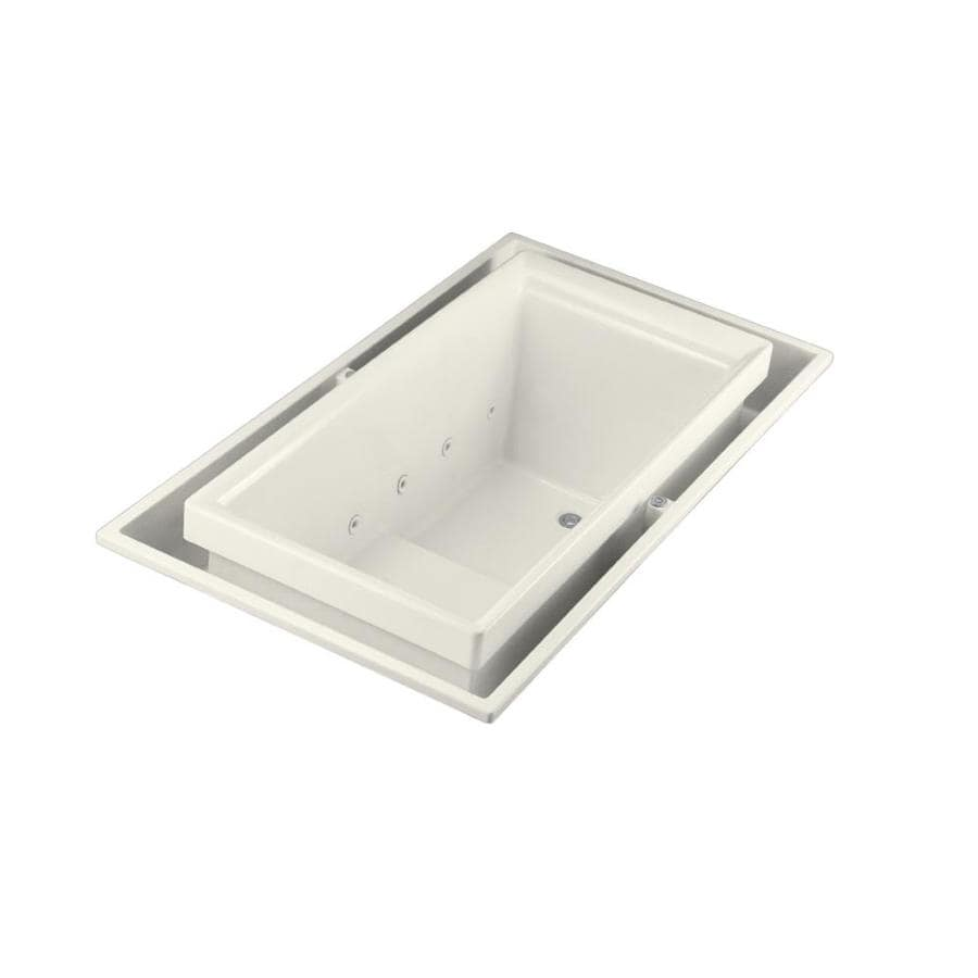 KOHLER Sok Biscuit Acrylic Rectangular Drop-in Bathtub with Right-Hand Drain (Common: 41-in x 75-in; Actual: 25-in x 41-in x 75-in)