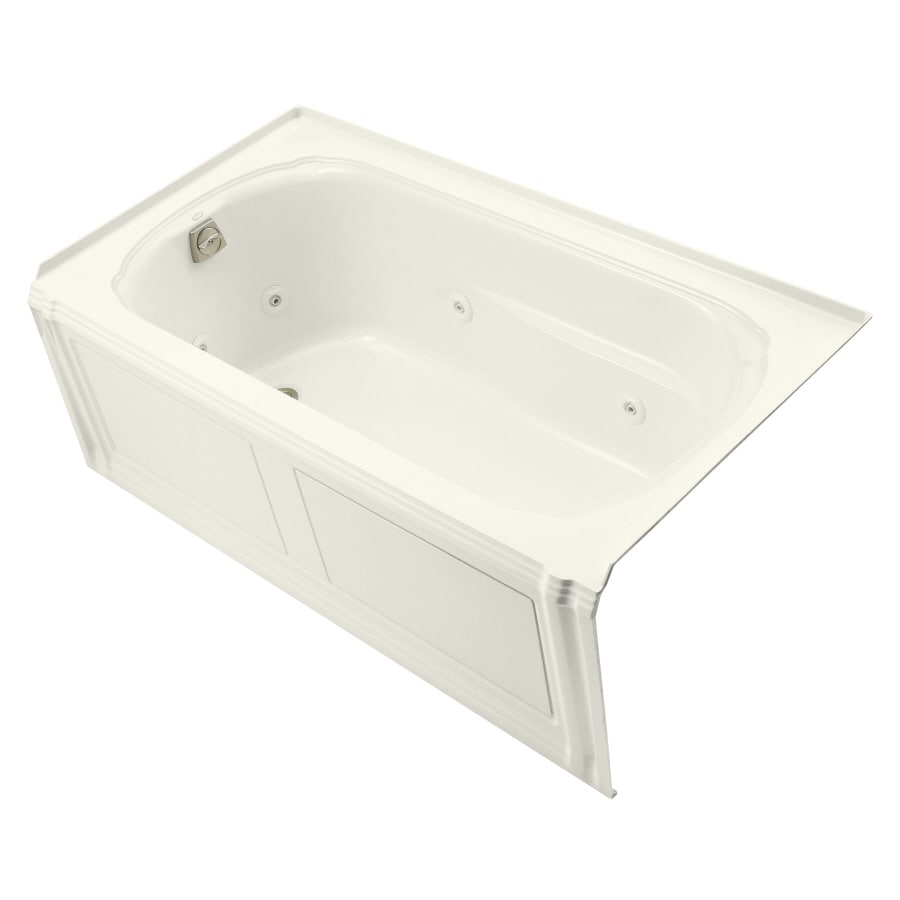 shop kohler portrait biscuit acrylic rectangular whirlpool tub common