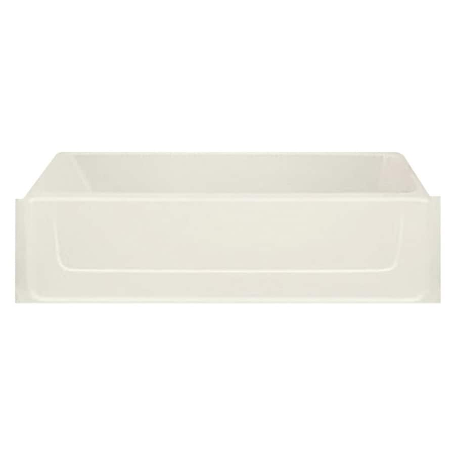 Sterling All Pro Biscuit Fiberglass and Plastic Composite Rectangular Skirted Bathtub with Left-Hand Drain (Common: 30-in x 60-in; Actual: 15-in x 30.5-in x 60.25-in)