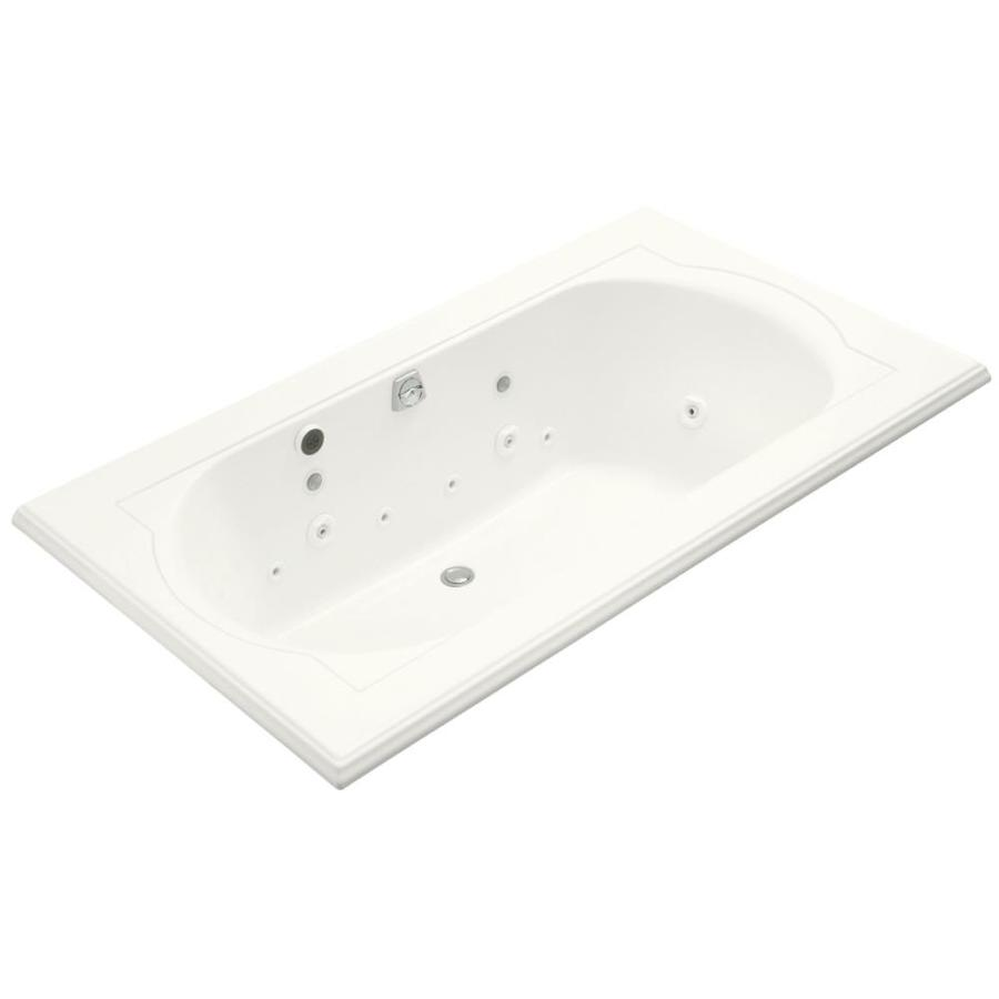 KOHLER Memoirs White Acrylic Oval In Rectangle Whirlpool Tub (Common: 42-in x 72-in; Actual: 22-in x 42-in x 72-in)