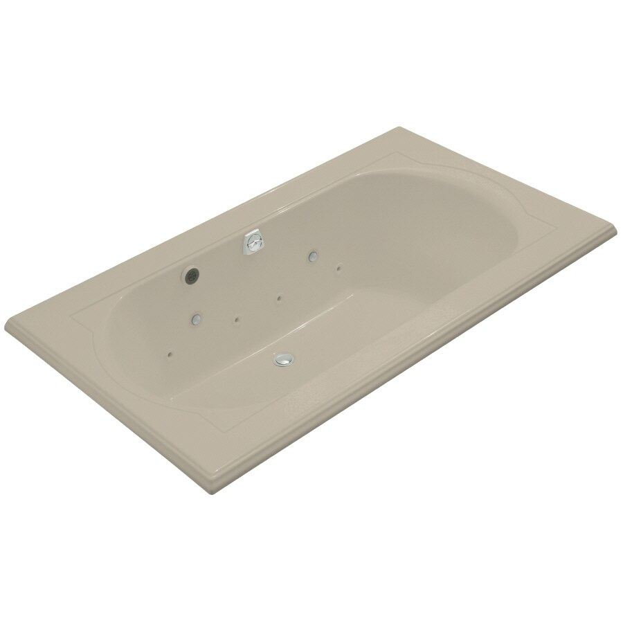 KOHLER Memoirs Sandbar Acrylic Oval In Rectangle Whirlpool Tub (Common: 42-in x 72-in; Actual: 22-in x 42-in x 72-in)
