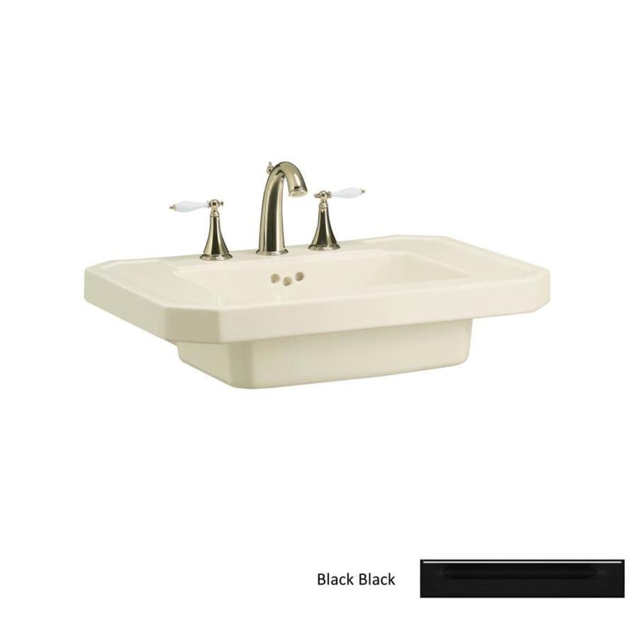 KOHLER 27-in L x 20-in W Black Fire Clay Pedestal Sink Top