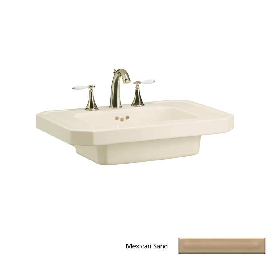 KOHLER 27-in L x 20-in W Mexican Sand Fire Clay Pedestal Sink Top
