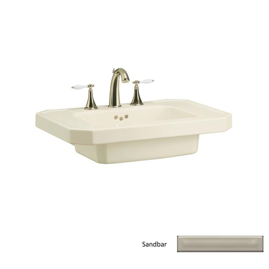 KOHLER 27-in L x 20-in W Sandbar Fire Clay Pedestal Sink Top