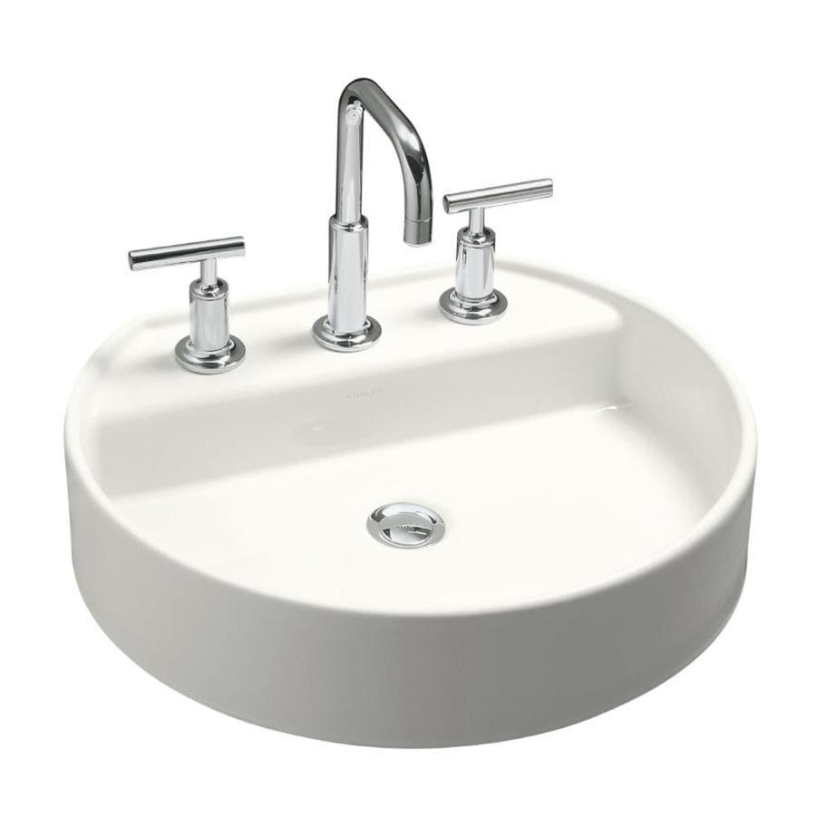 Shop KOHLER Chord White Drop-in Oval Bathroom Sink at ...