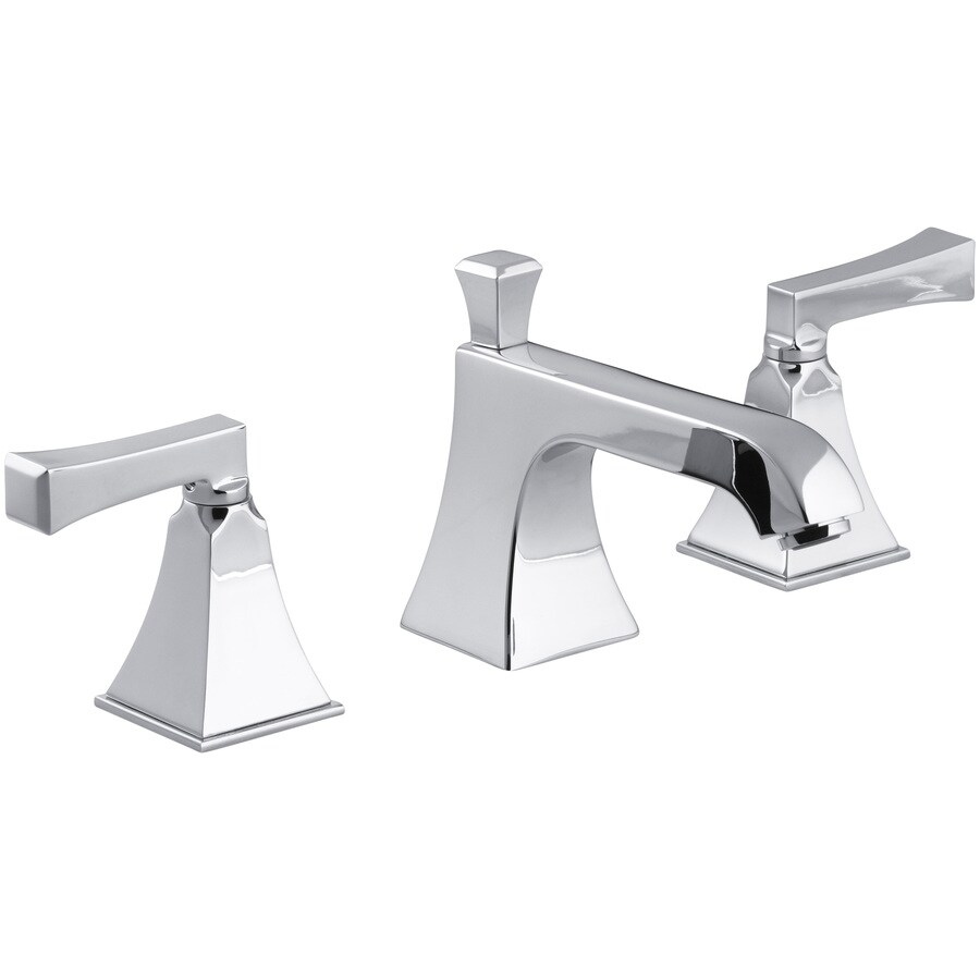 KOHLER Memoirs Polished Chrome 2-Handle Widespread WaterSense Bathroom Faucet (Drain Included)