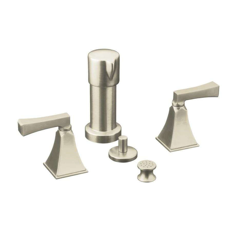 KOHLER Memoirs Vibrant Brushed Nickel Vertical Spray Bidet Faucet