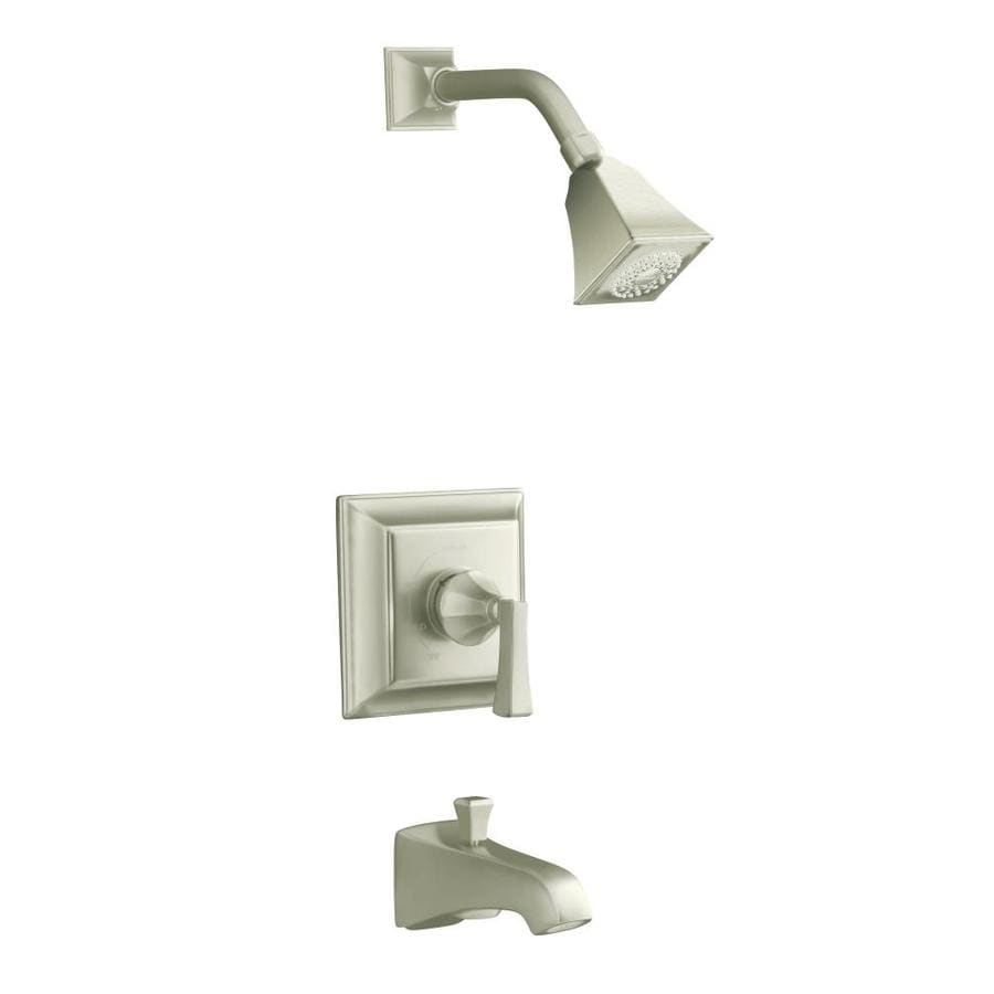 KOHLER Memoirs Vibrant Brushed Nickel 1-Handle Bathtub and Shower Faucet Trim Kit with Single Function Showerhead