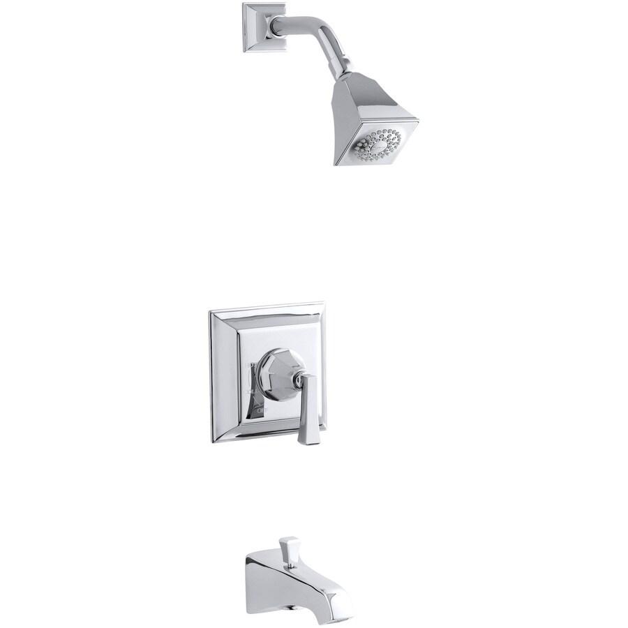 KOHLER Memoirs Polished Chrome 1-Handle Bathtub and Shower Faucet Trim Kit with Single Function Showerhead