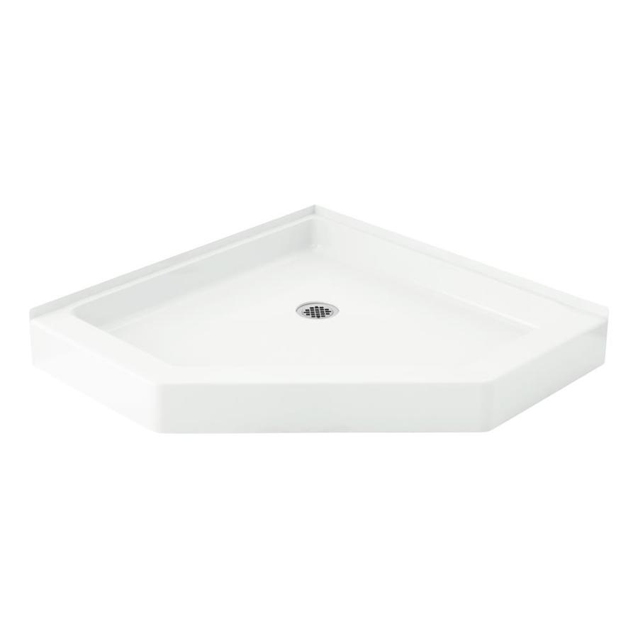 Sterling Intrigue White Vikrell Shower Base (Common: 39-in W x 39-in L; Actual: 39-in W x 39-in L)