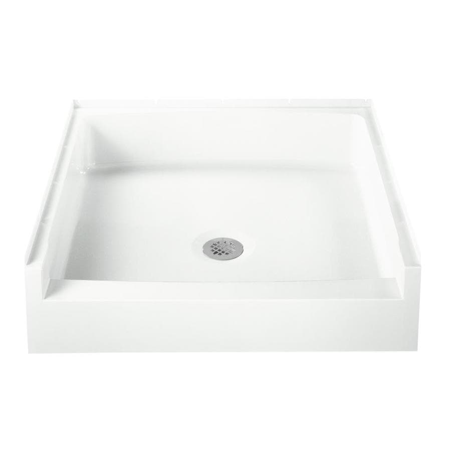 Sterling Advantage White Vikrell Shower Base (Common: 34-in W x 32-in L; Actual: 34-in W x 32-in L)
