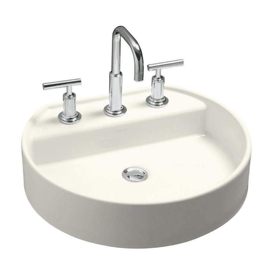 KOHLER Chord Biscuit Drop-in Oval Bathroom Sink