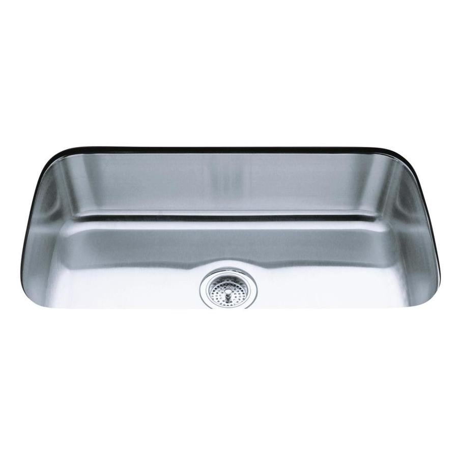 KOHLER Undertone 17.75-in x 31.5-in Stainless Steel Single-Basin Undermount Commercial Kitchen Sink