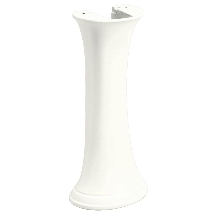 KOHLER Leighton 29.7-in H White Vitreous China Pedestal Sink Base