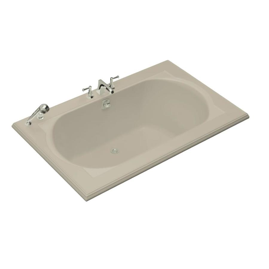 KOHLER Memoirs Sandbar Acrylic Oval In Rectangle Drop-in Bathtub with Center Drain (Common: 42-in x 66-in; Actual: 22-in x 42-in x 66-in)