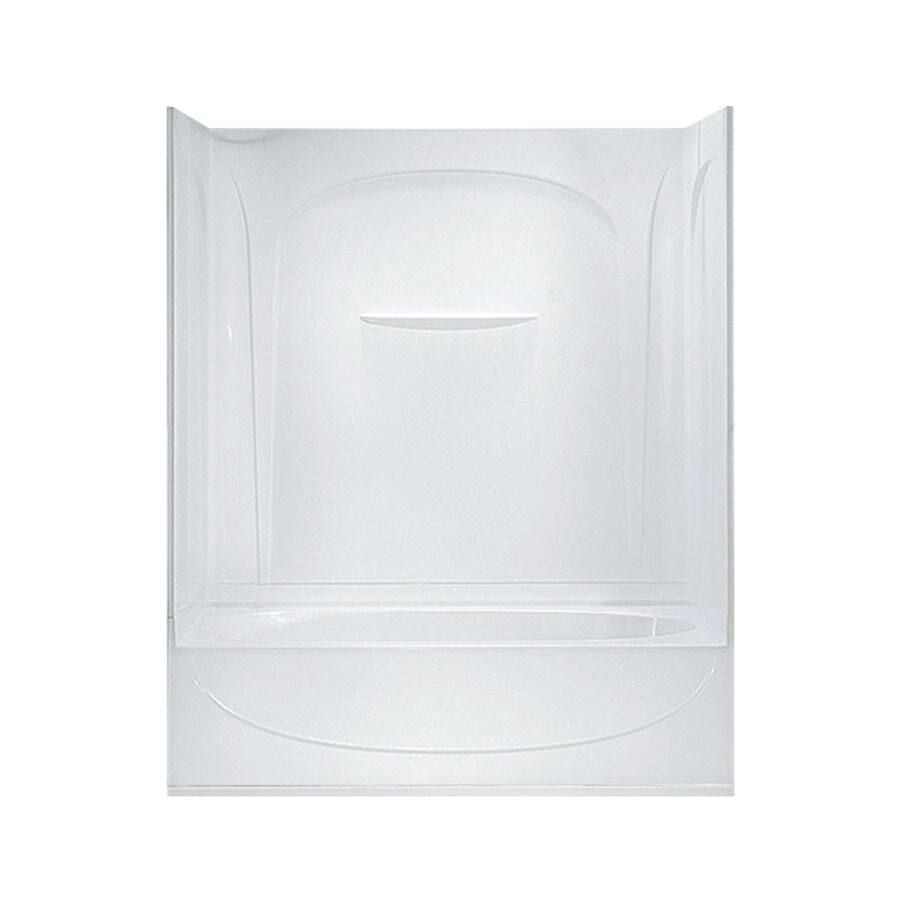 Sterling Acclaim AFD White Vikrell Wall and Floor 4-Piece Alcove Shower Kit with Bathtub (Common: 30-in x 60-in; Actual: 74.25-in x 30-in x 60-in)