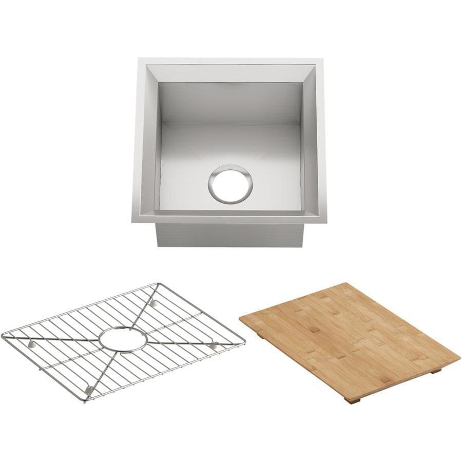 KOHLER Poise Stainless Steel Single-Basin Undermount Commercial Bar Sink