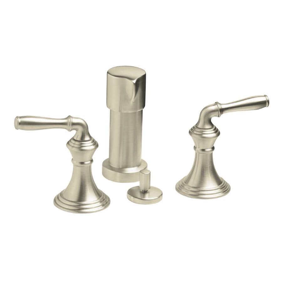 KOHLER Devonshire Vibrant Brushed Nickel Vertical Spray Bidet Faucet with Trim Kit