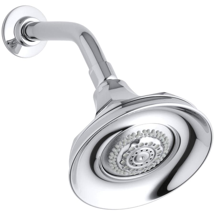 KOHLER Memoirs 5.9375-in 2.5-GPM (9.5-LPM) Polished Chrome 4-Spray Rain Showerhead