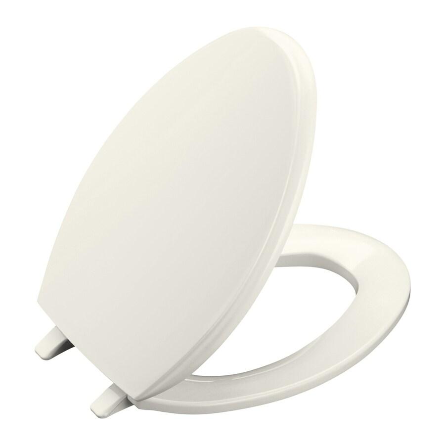 KOHLER Glenbury Biscuit Plastic Elongated Toilet Seat