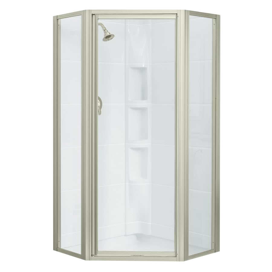 Sterling 36.125-in W x 72-in H Brushed Nickel Neo-Angle Shower Door