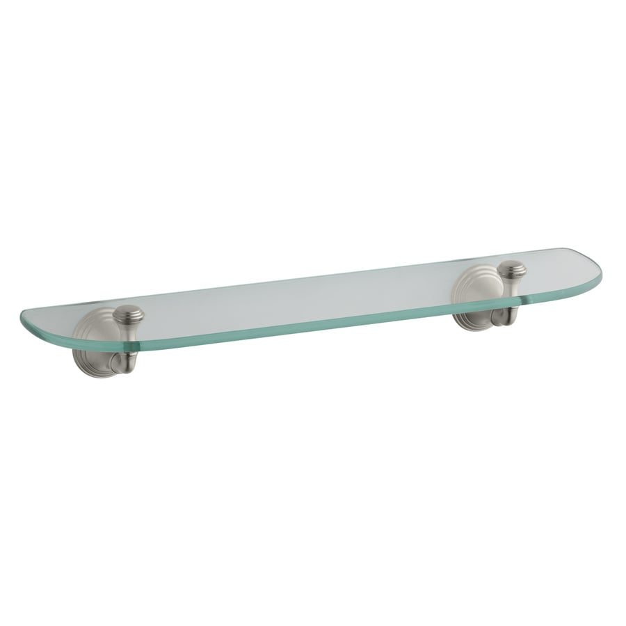 KOHLER Devonshire Vibrant Brushed Nickel Glass Bathroom Shelf