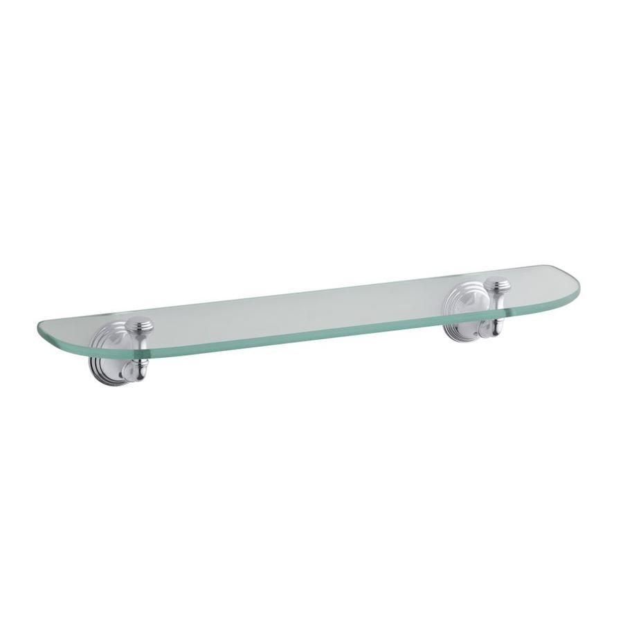 KOHLER Devonshire Polished Chrome Glass Bathroom Shelf