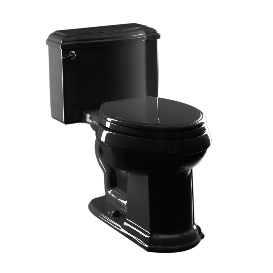 Shop kohler devonshire black black 1 6 gpf 12 in rough in elongated 1 piece comfort - Kohler devonshire reviews ...