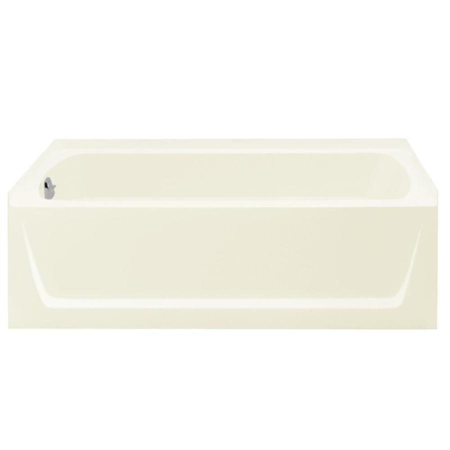 Sterling Ensemble Biscuit Fiberglass and Plastic Composite Rectangular Skirted Bathtub with Left-Hand Drain (Common: 32-in x 60-in; Actual: 20-in x 32-in x 60.25-in)