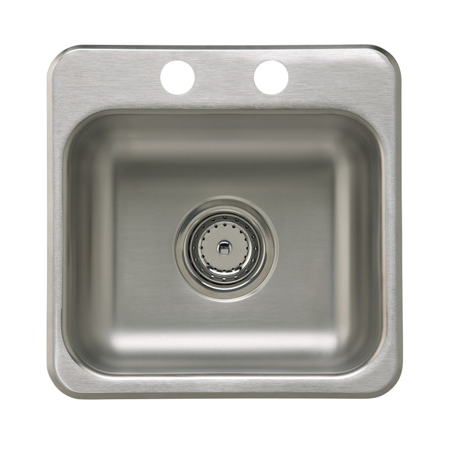 Sterling Secondary Single-Basin 2-Hole Stainless Steel Drop-In Commercial/Residential Prep Sink