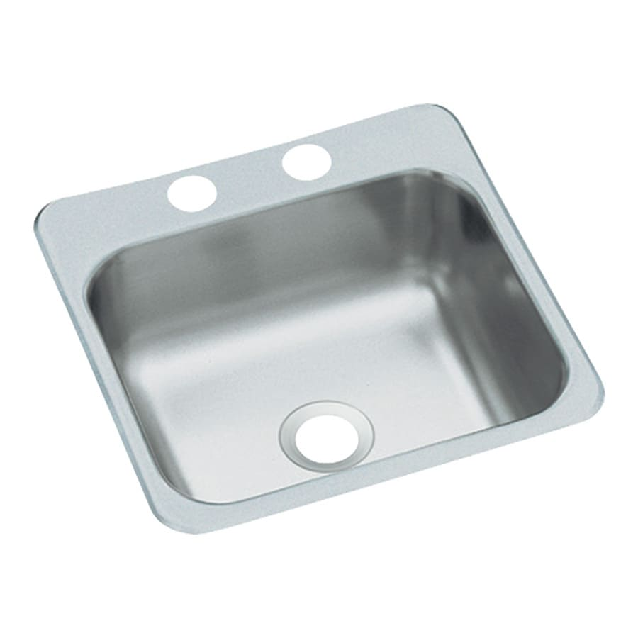 Sterling Satin Single-Basin 2-Hole Stainless Steel Drop-In Residential Bar Sink